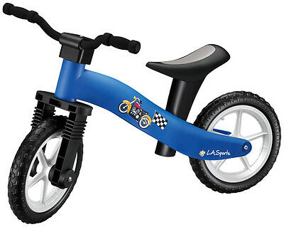 Kids Balance Bike LA Sports Lightweight Boys Blue Running Bike Ages for 2 to 4