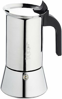 Bialetti Elegance Venus 6 Cup Stainless Steel Espresso Maker Coffee Machine