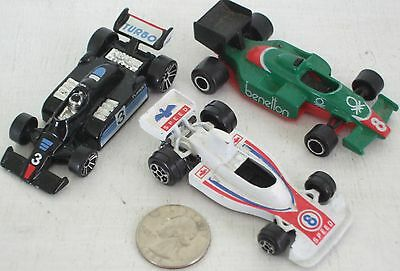 """Diecast 3-pc Indy Race Cars #3 USED approx 3"""" See Photo"""