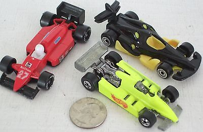 """Diecast 3-pc Indy Race Cars #5 USED approx 3"""" See Photo"""