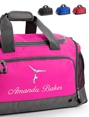 Personalised Embroidered Gymnastics Bag, Holdall, Sport, Travel, Gym, Exercise