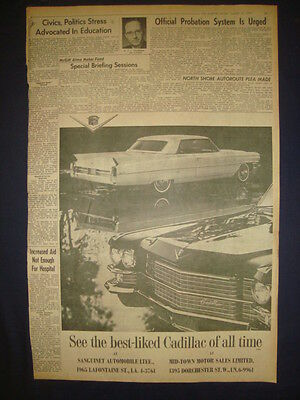 CADILLAC AUTOMOBILE NEWSPAPER ADVERT MARCH 22 1963 D20121206