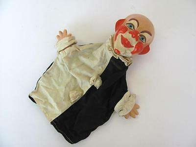 1930s VINTAGE CHILD TOY PUPPET THEATRE CLOWN w/PAPIER-MACHE HEAD & HANDS