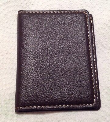 Set Of Two Credit Card, Id Card  Holders - Dark Brown Leather