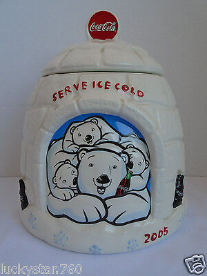 2005  Coca Cola  Iglo  Polar Bear Cookie Jar