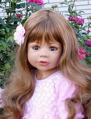 "Masterpiece * Coco Brunette Wig Only * (No doll) For Monika Levenig 39"" Doll"