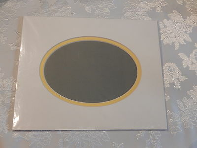 Oval 8x10 Double Crescent mat for 5 x7  photo or art work (8x10DM OW/Y)