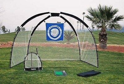 3 in 1 Golf Practice Set Mat Driving Net Chipping Net and Bag NEW Free Shipping