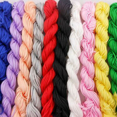 Hot 1mm*26m Nylon Cord Thread Chinese Knot Macrame Bracelet Braided String Knit