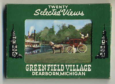 Vintage Pack 20 Color Photographs GREENFIELD VILLAGE MICHIGAN - H. FORD MUSEUM