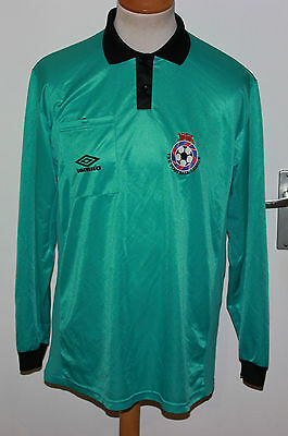 RETRO UMBRO 90er SCHIEDSRICHTER TRIKOT GR 54 L REFEREE THE FOOTBALL LEAGUE