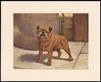 Brussels Griffon Standing Dog Charming Dog Art Print Mounted Ready To Frame