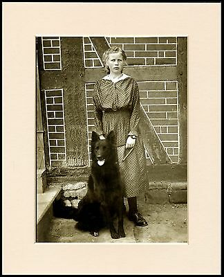 Belgian Shepherd Young Girl And Dog Great Dog Photo Print Mounted Ready To Frame