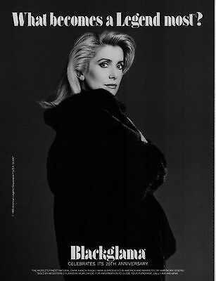 Vintage BLACKGLAMA Print Ad w/ CATHERINE DENEUVE - Proof - Mint