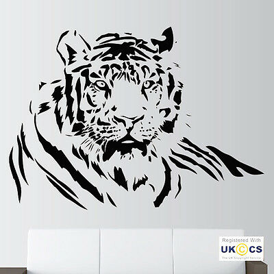 Wall Stickers Tiger Lion Animal Print Art Decals Vinyl Decor Home Mural Room