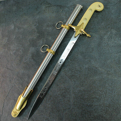 "19"" Marine Dress Sabre Sword Dagger Knife With Scabbard NEW 6902 zix"
