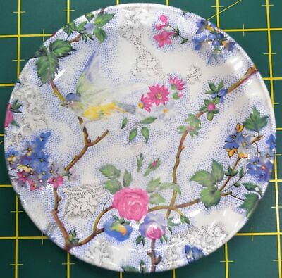 Beautiful Weatherby Royal Falcon Ware Plate, c1930's, 127mm Diameter Bird & Flow