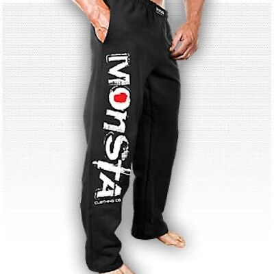 NEW Men's Monsta Clothing Signature Black Sweat Pants:  For Workout / Sleeping