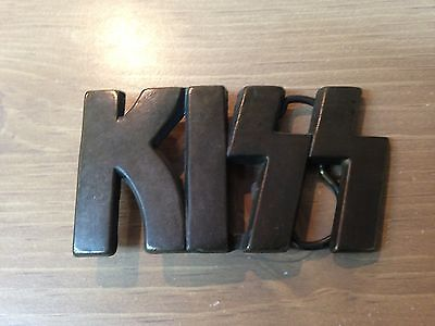 KISS *** BRASS *** VINTAGE Belt Buckle **