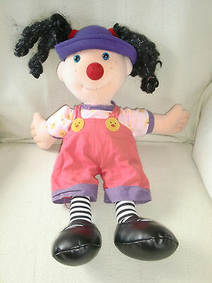 """LOONETTE 20"""" Plush Doll From BIG COMFY COUCH TV Show 1995 Mollys Friend Clown"""
