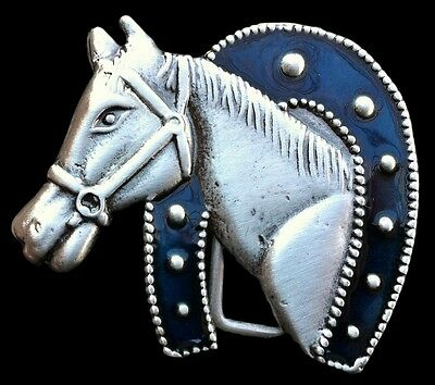 Lucky Horseshoe Horse Ranch Cowboy Rodeo Western Belt Buckle Belts Buckles