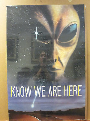 Vintage 1994 Know We Are Here original alien poster 6049