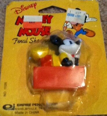 BNIP Vintage Empire Pencil Corp Disney Mickey Mouse Pencil Sharpener
