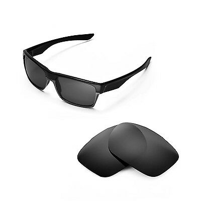 New Walleva Polarized Black Replacement Lenses For Oakley TwoFace Sunglasses