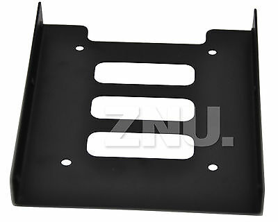 """New Caddy SSD HDD Disque Dur Support Adaptateur HDD 2,5"""" vers 3,5"""" Rack NOIR"""