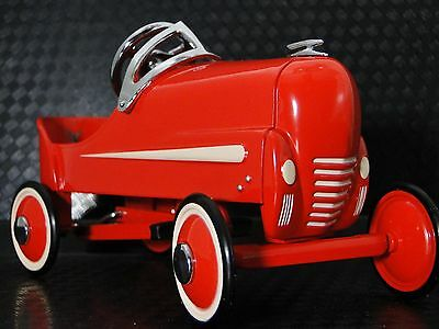 Pedal Car Indy Race F1 Red Hot Rod Rare Vintage Classic Metal Midget Show Model