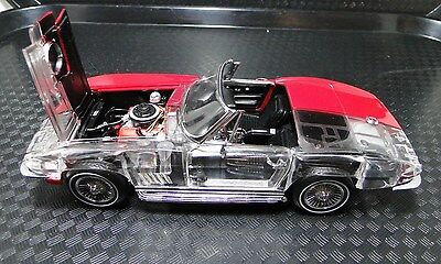 1967 Vette Chevy Sport Show Car Rare Exotic Classic 1 24 Model Carousel Red