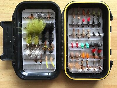 24 MIXED TROUT FLIES  for fly fishing rod reel & line