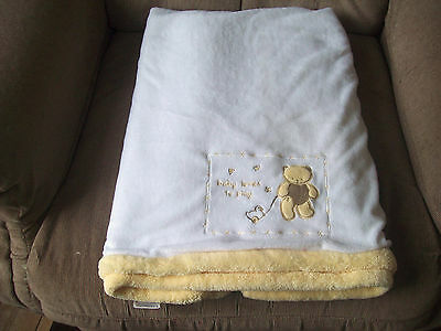 """Baby Connections """"Baby Love to Play"""" White Velboa Minky Plush Baby Blanket"""