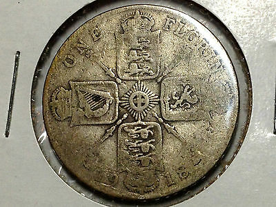 Great Britain 1918 Two Shillings  Silver Florin Better Grade Coin