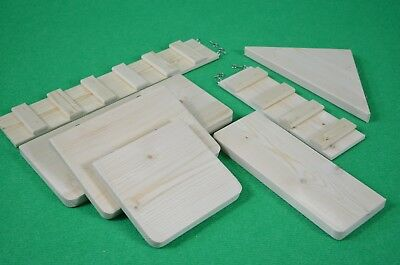 Pack 5 Shelves/Platforms.2 Ramps Chinchilla,Degu,Rat Cage Furniture