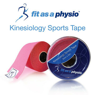 Kinesiology Sports Strapping Tape - 3 Pink Rolls