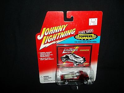 JOHNNY LIGHTNING THE LOST TOPPERS SERIES COMMUTER  RED-CHROME
