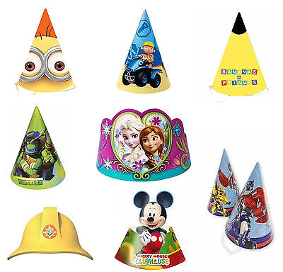 Disney Boy Girl Party Birthday Celebration Supply Hats Tiara 6PK & 8PK New