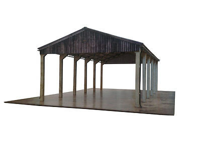 LASER CUT OPEN SIDED FARM YARD BARN FOR OO SCALE 1:76 4mm MODEL RAILWAY KX015