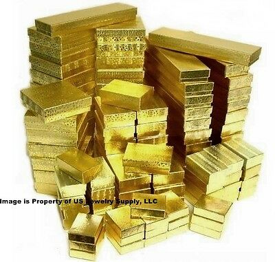 Wholesale 100 Assorted Mix Gold Cotton Fill Jewelry Packaging Gift 2 Pc Boxes