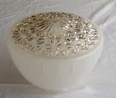 Vintage Frosted Glass Light Fixture with Clear Glass for illumination. Spectacul