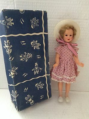 Vintage Doll In pink Italy 21cm Boxed 1950's?