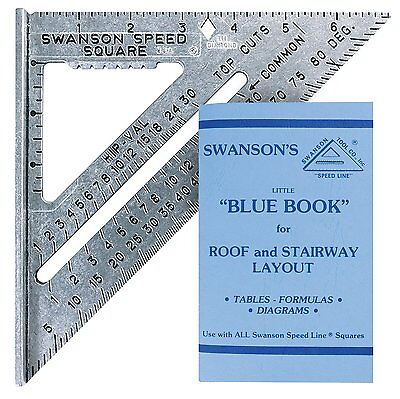 Swanson Tool S0101 7-inch Speed Square Layout Tool with Blue Book by Swanson NEW
