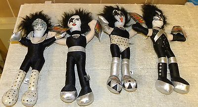 Kiss 2005 Set Of 4  12 Inches Tall  Plush Figures,   Very Rare, Not  Aucoin ,