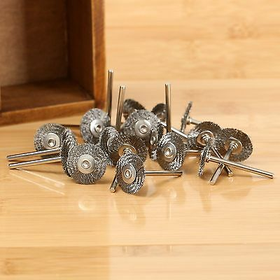 20Pcs Rotary Tools steel Wire Wheels Brushes For Die Grinder Dremael Accessories