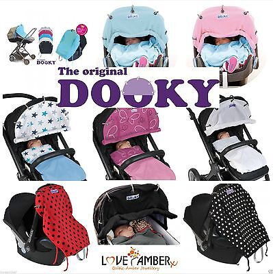 Dooky Roll Up Sun Shades Pram Shade Carseat Cover Protect Wind Rain Sun & Winter