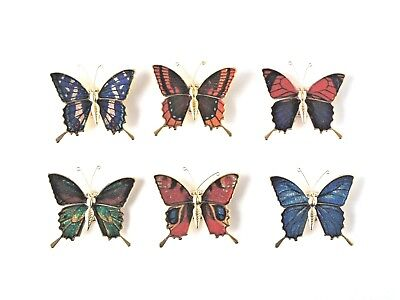 Butterfly Fridge Magnets Metal - New - Choice Of Six Colours