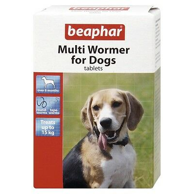 NEW Beaphar Dog Worming Tablets Multi Wormer Tablets for Puppies / Dogs 12 Pack