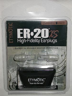New ER20XS Large Size Etymotic Musician Hearing Protection Ear Plugs