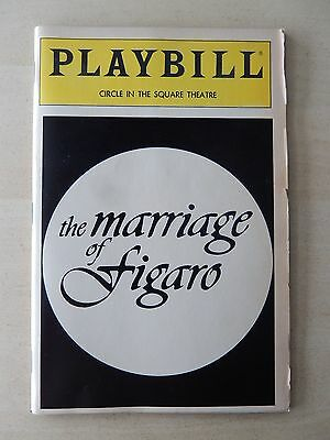 September 1985 - Circle In The Square Playbill w/Ticket - The Marriage Of Figaro